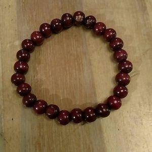 EUC deep red beaded bracelet!